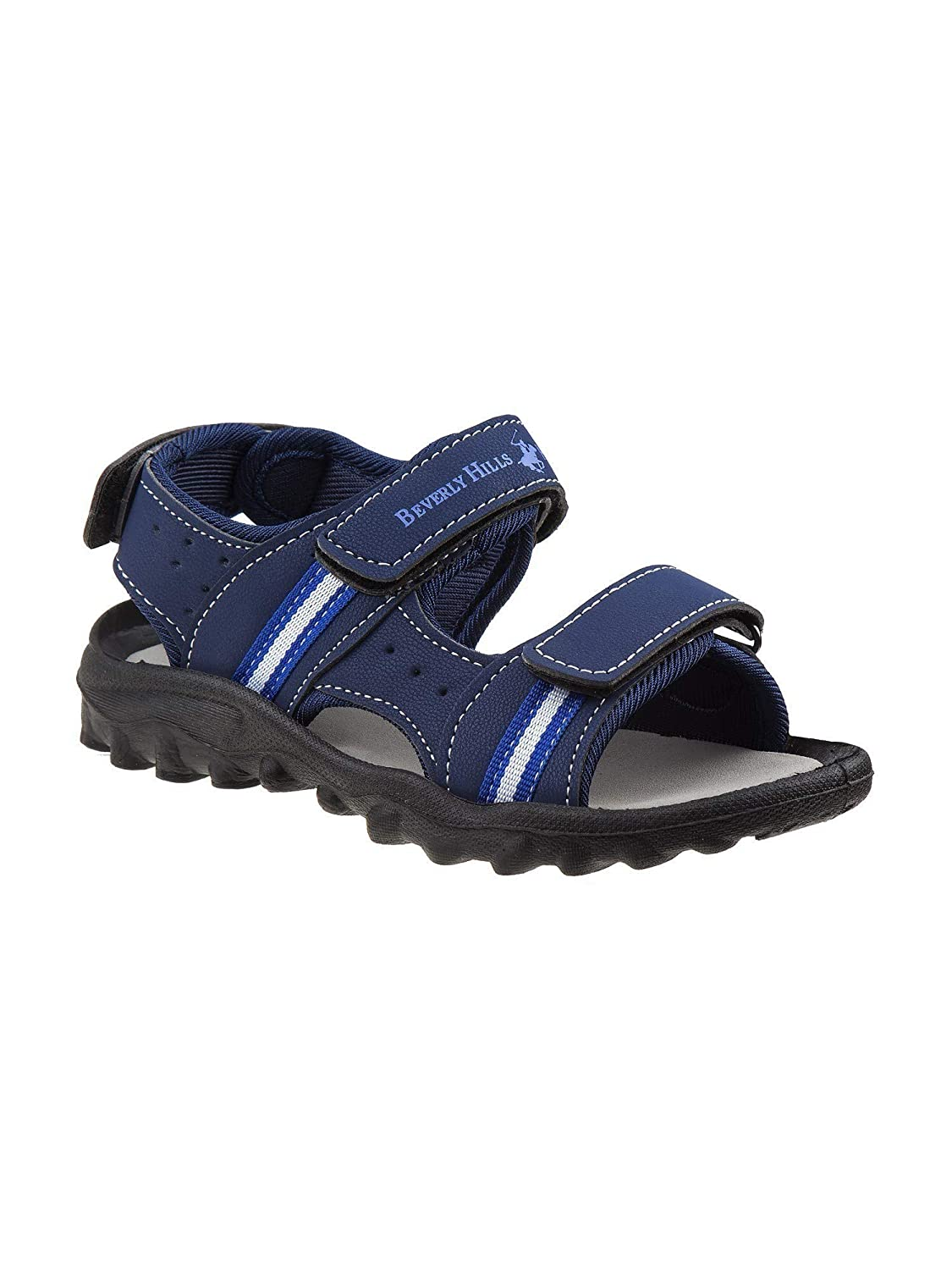 Beverly Hills Little Boys Navy Blue Hook-and-Loop Athletic Sandals 6-10 Toddler