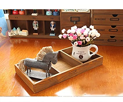 Caja de almacenamiento de madera sange escritorio bandeja clasificadora 3 gueto de madera caja de pantalla