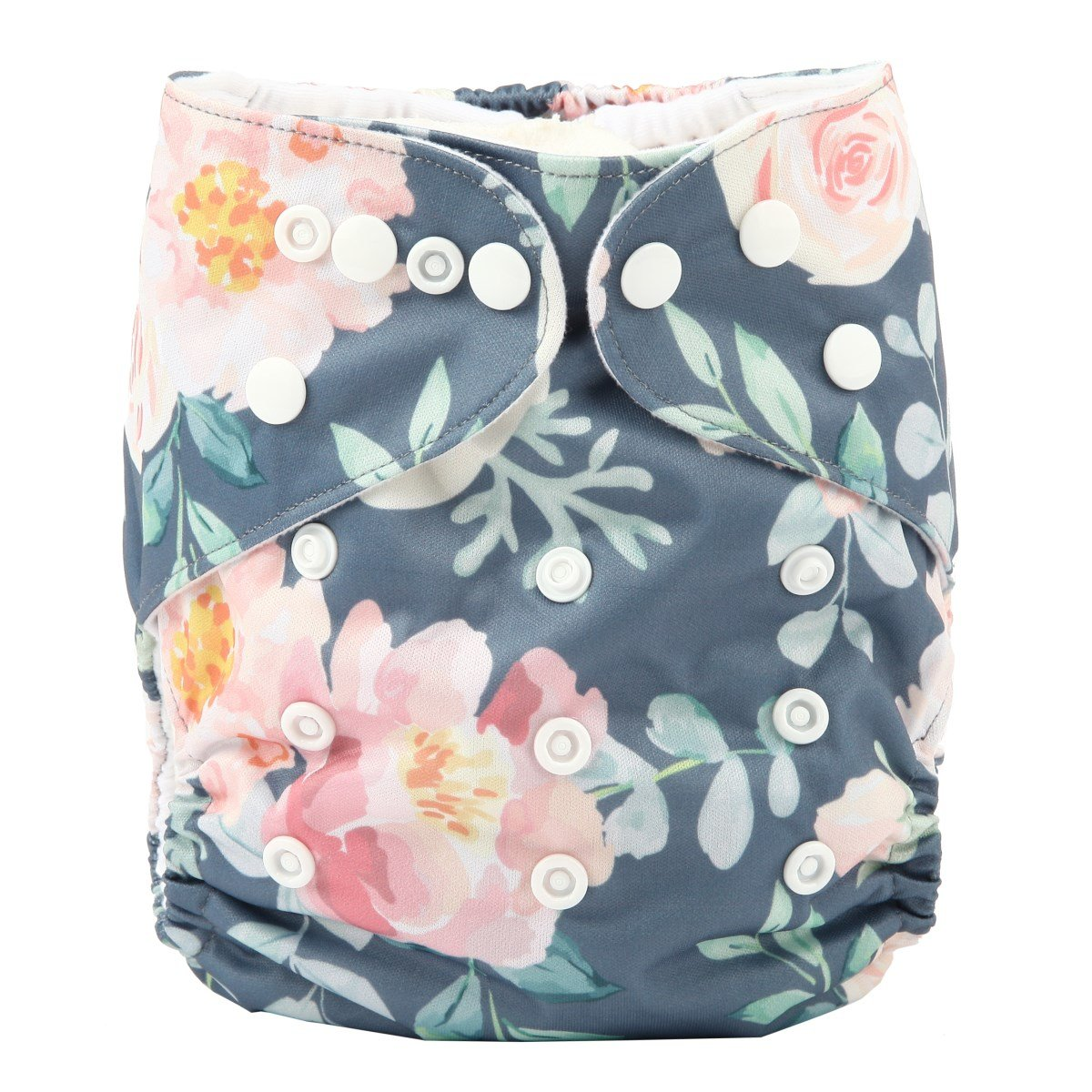 Baby Pocket Cloth Diaper Nappy Bamboo Charcoal Double Gussets Reusable Girls Floral Hummingbirds