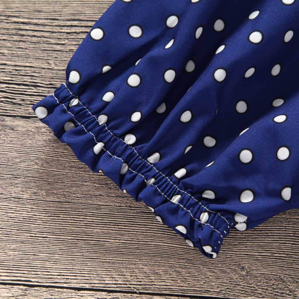 Toddler Kids Infant Baby Girls Straps Dots Print Romper Clothes,Sleeveless Rompers Jumpsuit 3-24 Months