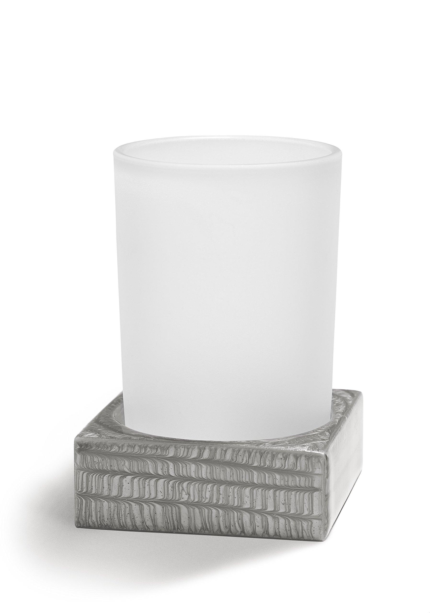 Kassatex Delano Bathroom Accessories (Tumbler, Grey) by Kassatex