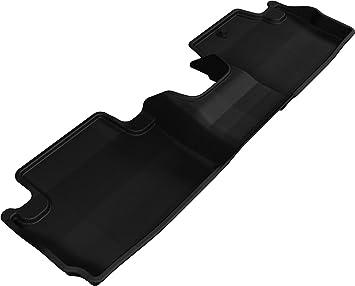 3D MAXpider L1HD04821509 Second Row Custom Fit All-Weather Floor Mat for Select Honda Accord Models Kagu Rubber Black