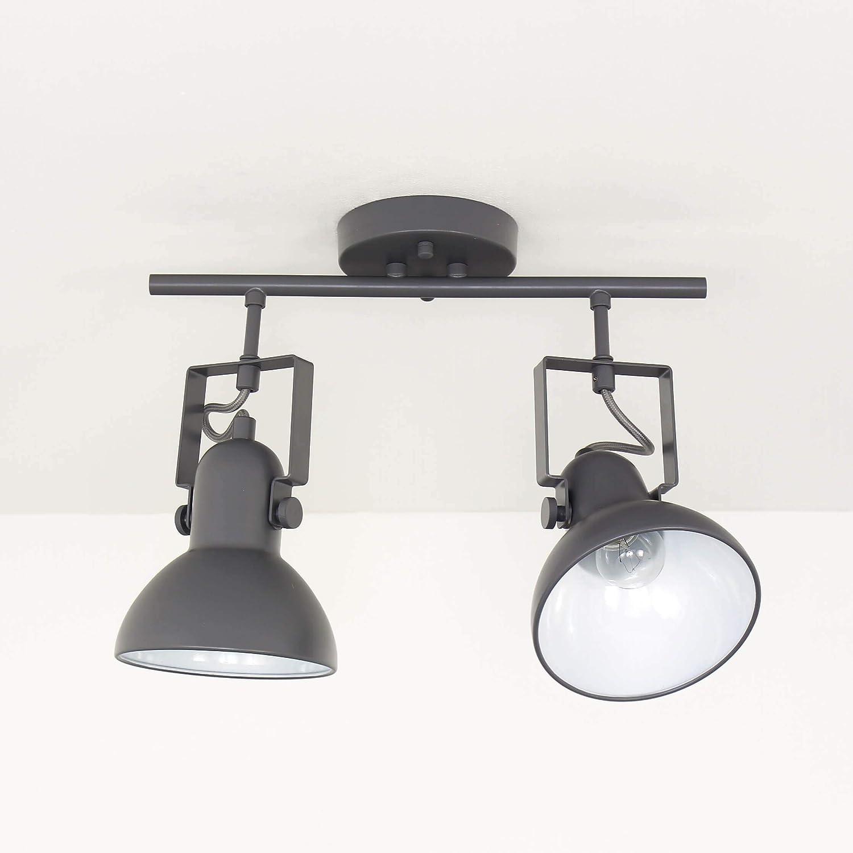 Deckenstrahler DALLAS Anthrazit E14 verstellbar Retro Design