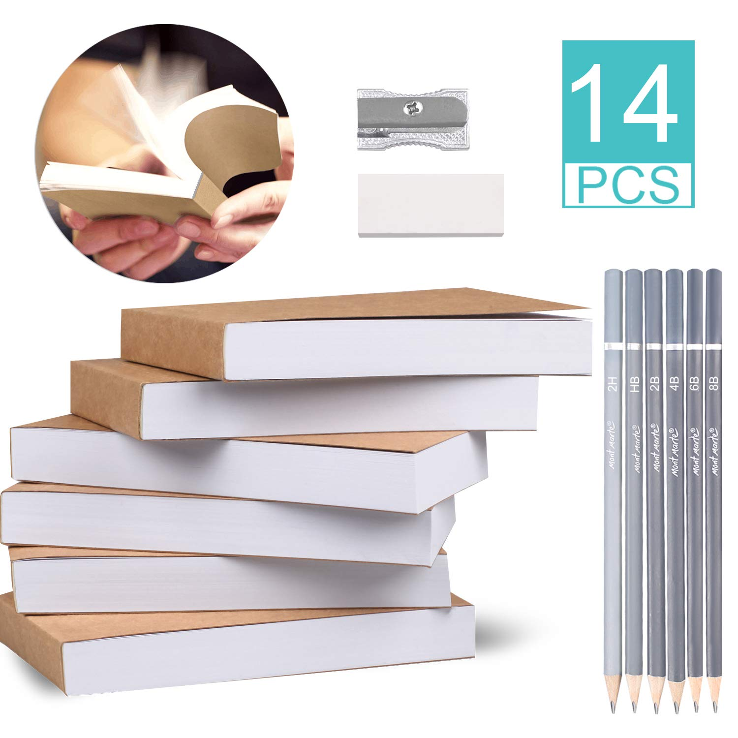 4.5/'/' x 2.5/'/' for Animation 200 Pages // 100 Sheets Flipbook Paper and 8 Pcs Drawing Set for Kids /& Adults Sketching Flip Book and Cartoon Creation Blank Flipbooks 6 Pack