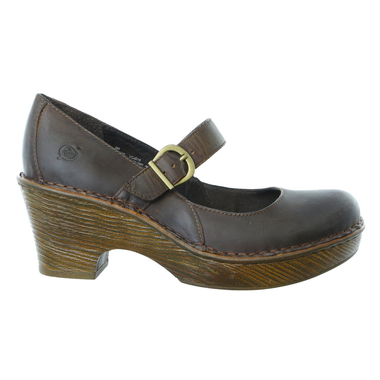 Born Lezlie Mary Jane Clog Heel Sandal Shoe - Womens