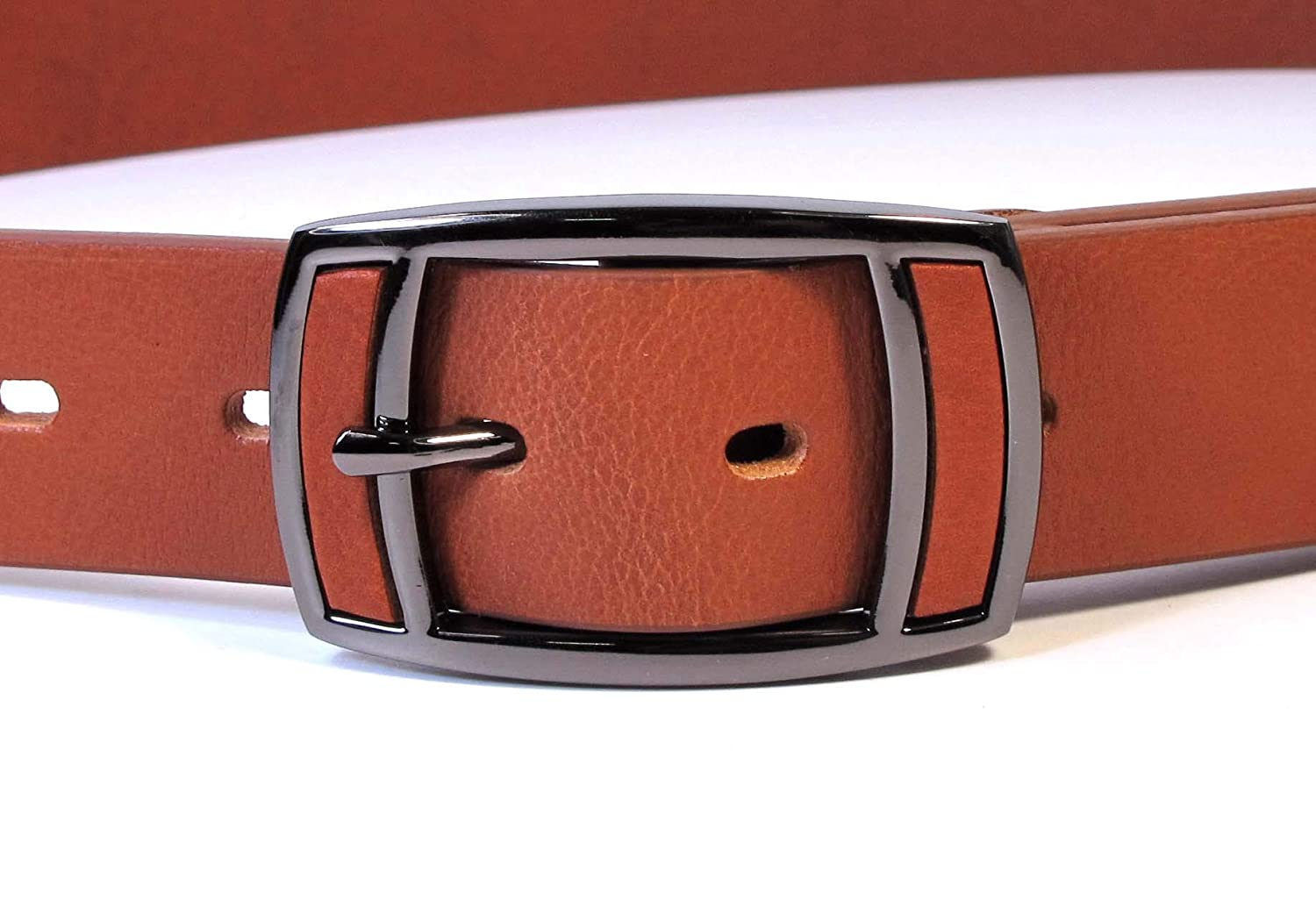 Womens Real Genuine Leather Tan Brown Belt 1.25 Wide S-L Thick Casual Jeans CW0