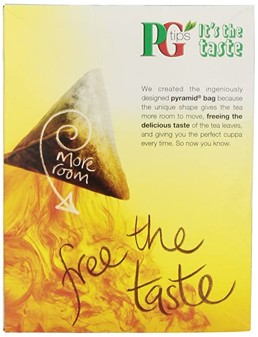 Amazon.com : PG Tips, Pyramid Tea Bag, 160 Count Boxes : Black ...