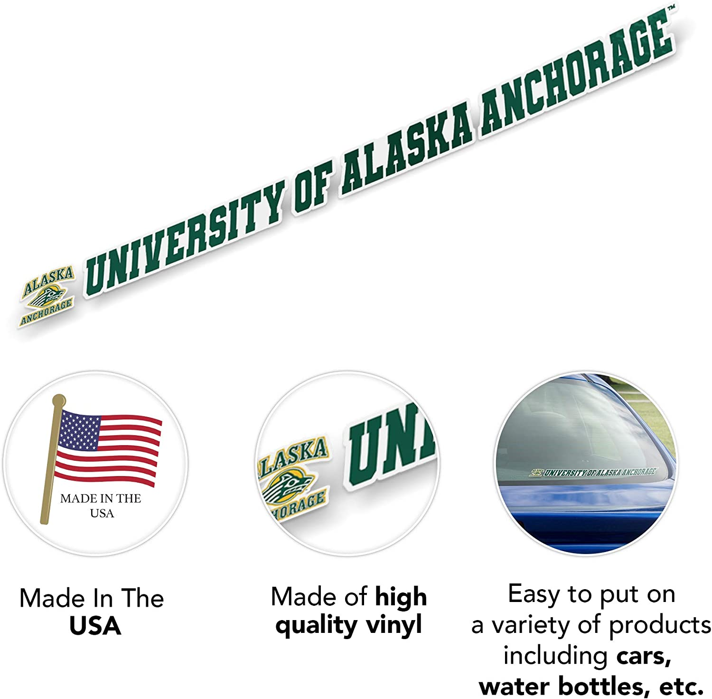 University of Alaska Anchorage UAA Seawolves NCAA Name Logo Vinyl Decal Laptop Water Bottle Car Scrapbook 15 Inch Sticker