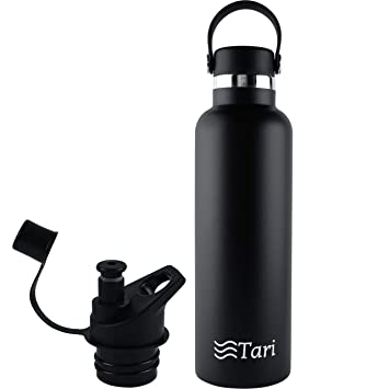Amazon.com: Tari Botella de agua de acero inoxidable con ...