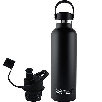 Amazon.com: Tari Botella de agua de acero inoxidable con ...
