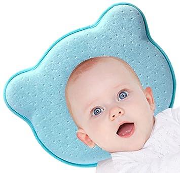 Baby Pillow - Prevención del síndrome de cabeza plana para su bebé recién nacido Evite la almohada transpirable de espuma con memoria de plagiocefalia ...