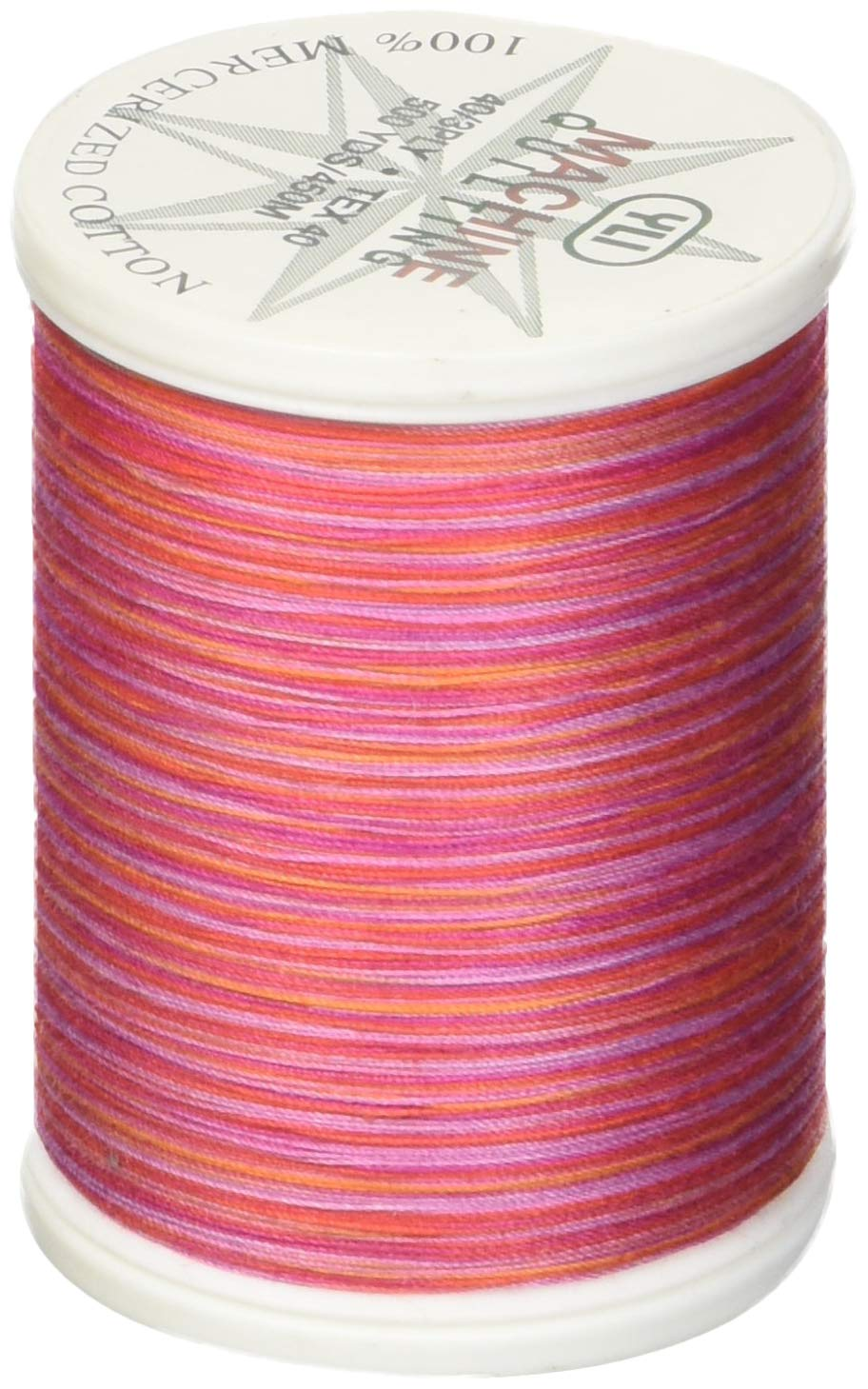 500 yd California Poppy YLI 24450-V75 3-Ply 40wt T-40 Cotton Quilting Variegated Thread