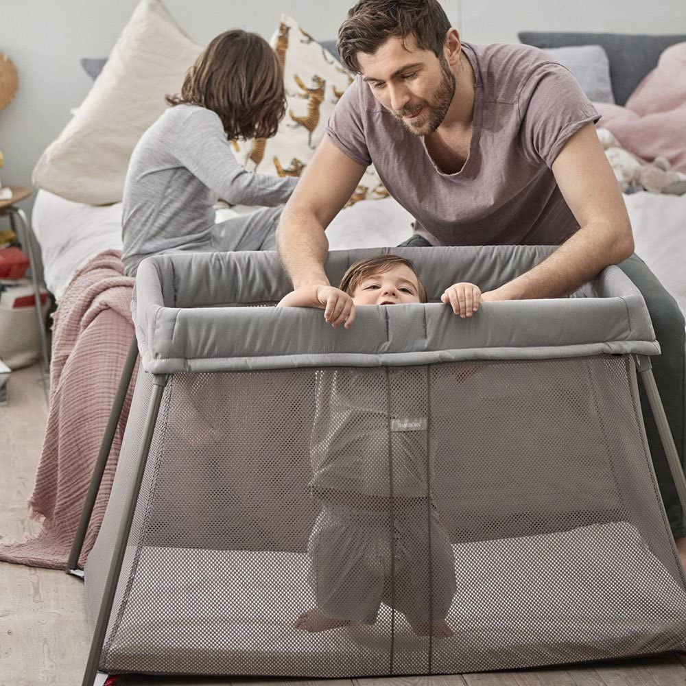 BABYBJ/ÖRN Travel Cot Easy Go with transport bag Anthracite