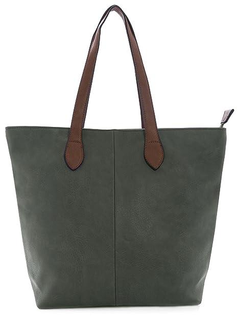 b9eb988ceded Big Handbag Shop Womans Designer Plain Soft Lightweight Tote Shoulder Bag (Dark  Grey)