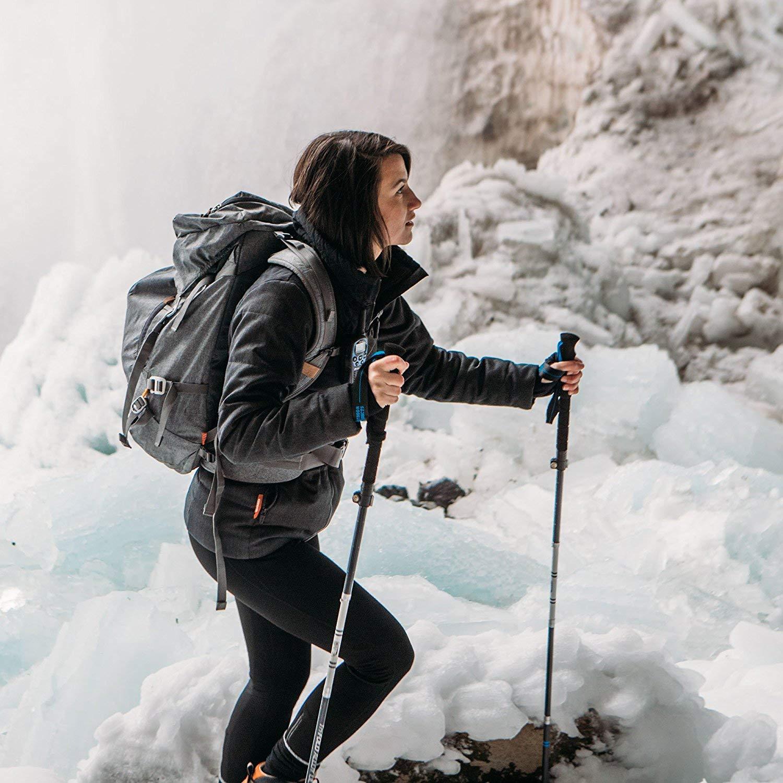 Bastones de Trekking de aleaci/ón de Aluminio Plegable mochileros Extensibles Paria Outdoor Products Ideales para Caminatas Marcha n/órdica. Ajustables y ultraligeros