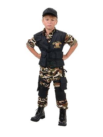 underwraps big boys underwraps kids seal team deluxe costume small childrens costume camo