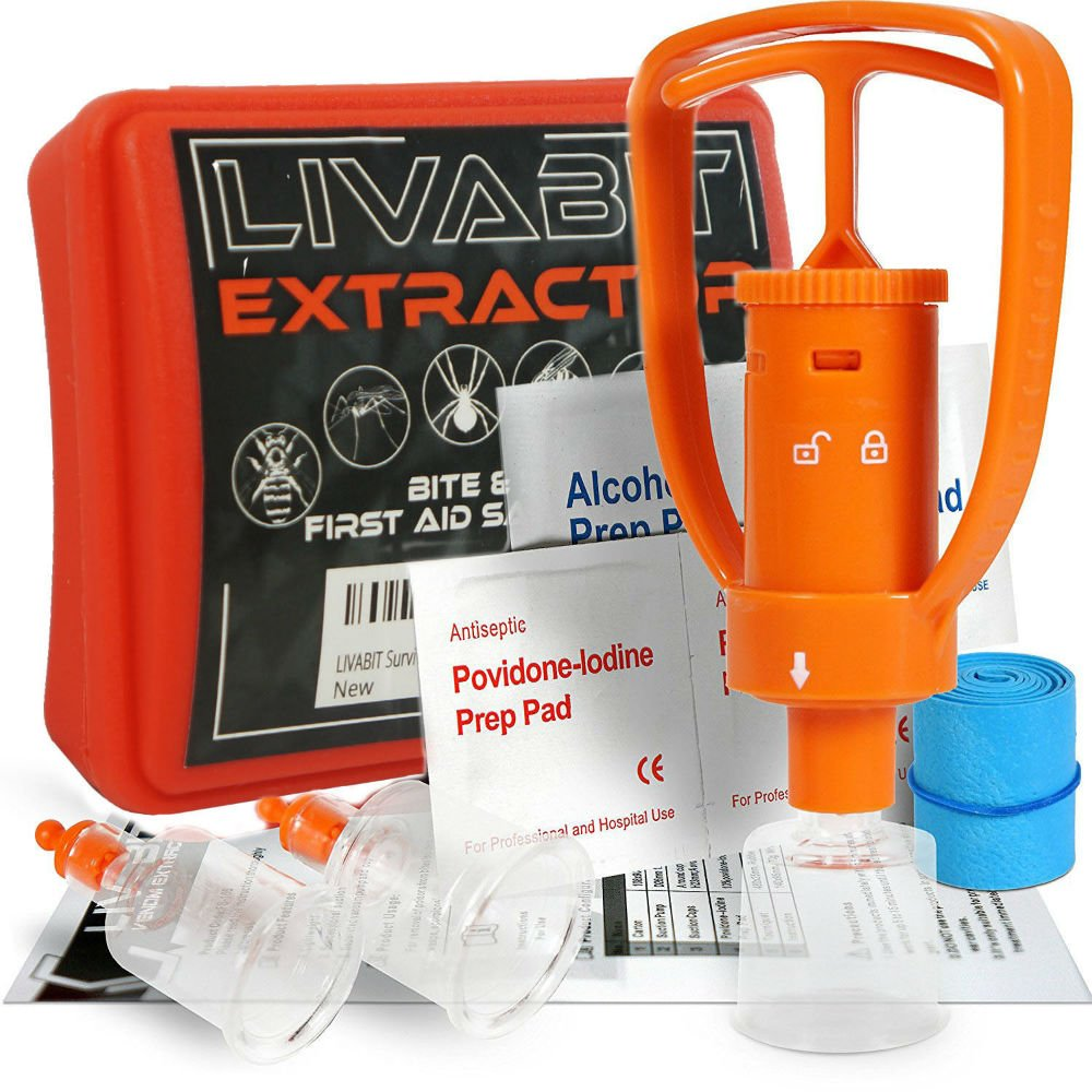 First Aid Safety Tool Kit Emergency Venom Snake Bite Extractor Pump