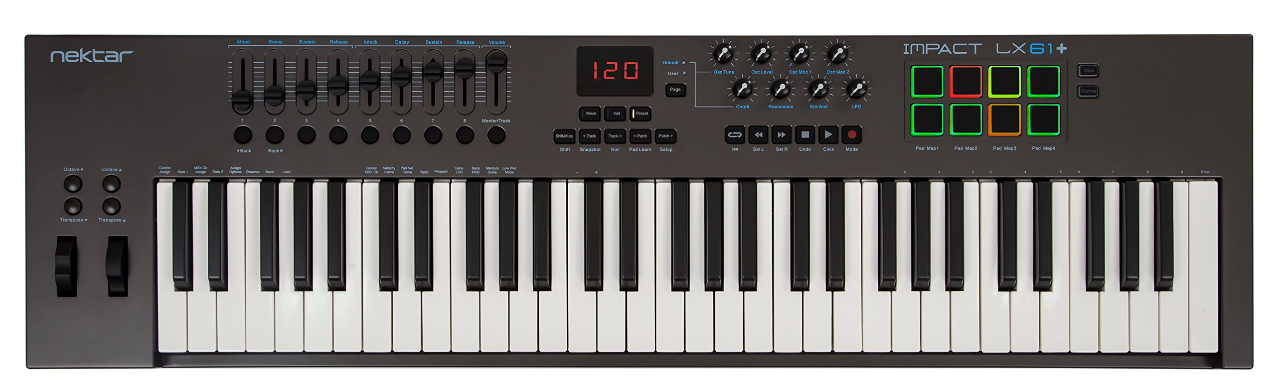 Nektar Impact LX61+ Keyboard Controller by Nektar