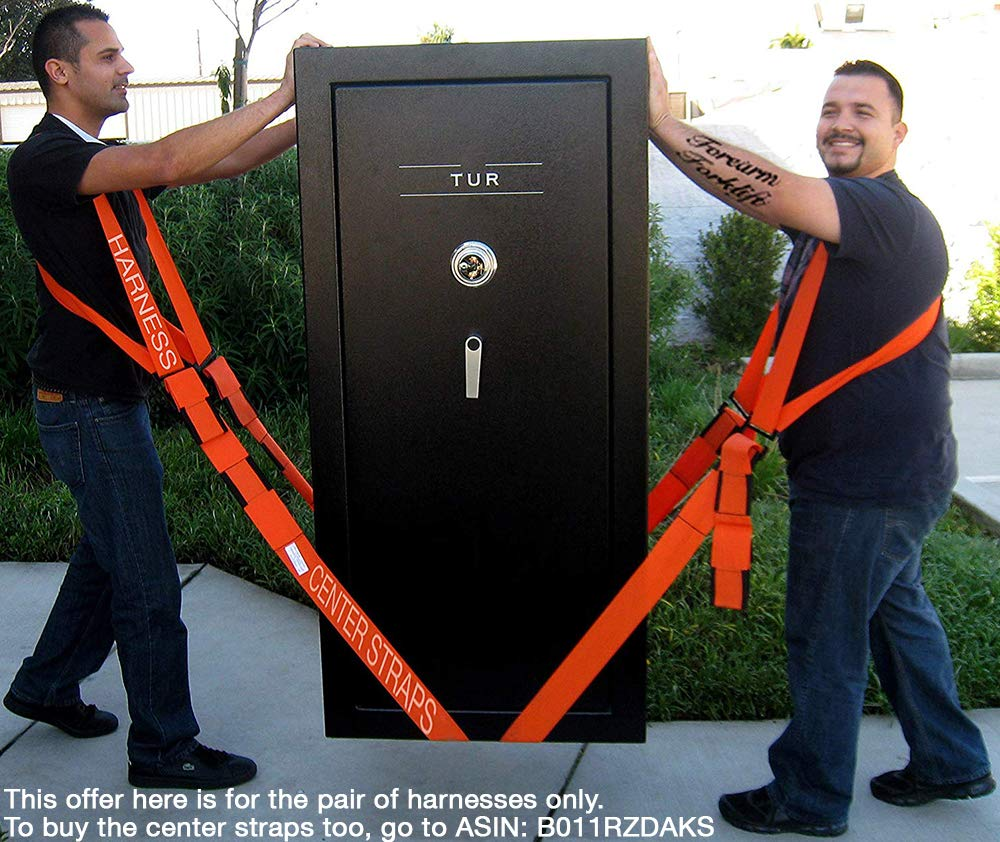 Forearm Forklift FFH2 Harness 2 | Requires Lifting & Moving Straps (Sold Separately) | 2 Person System | Lift Like A PRO and Move Heavy Appliances | Rated Up to 800 Lbs, Orange by Forearm Forklift (Image #7)