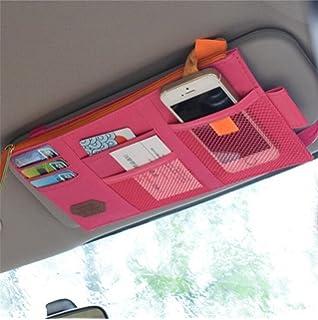 Pink Siyibb Cute Car Sun Visor CD Organizer Holder Case