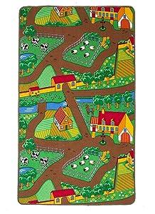 """The Rug House Tappeto Gioco per Bambino - Fattoria, Animali e Trattore 100cm x 165cm (3ft 3"""" x 5ft 5"""")"""