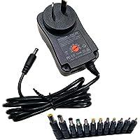 Easyday 30W Universal AC DC Adjustable 3V 4.5V 5V 6V 7.5V 9V 12V Power Supply Adapter Wall Charger with 12 Adapter Tips