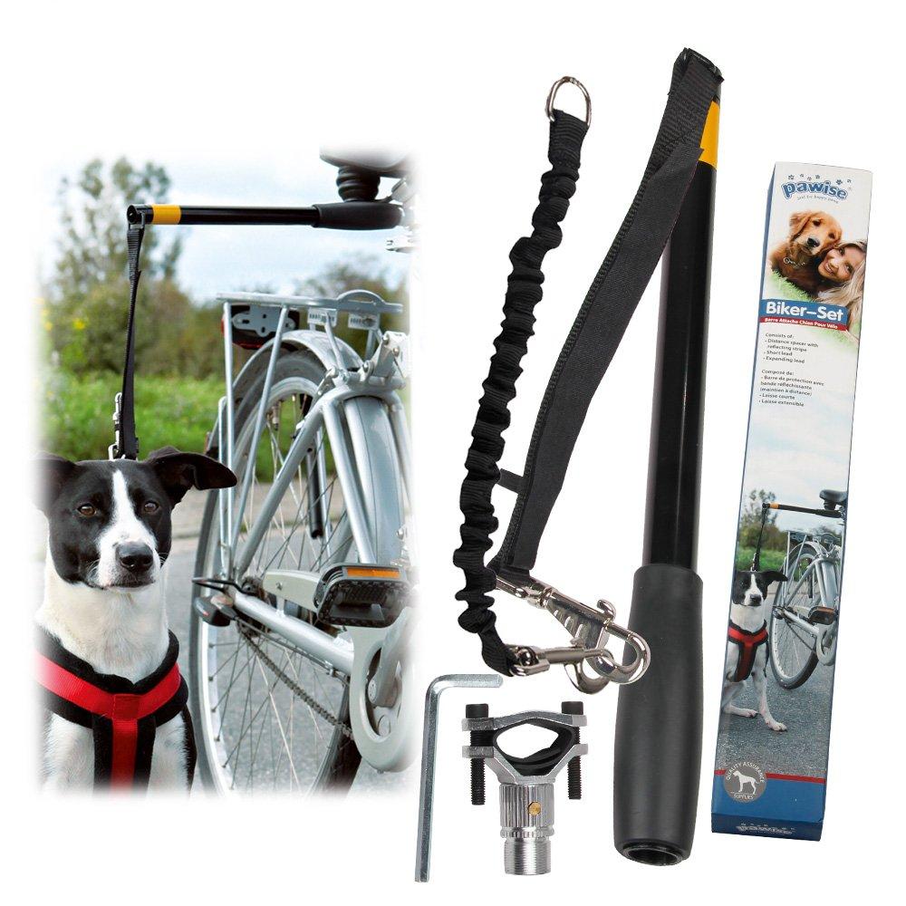 PAWISE Dog Bike Leash Hands Free Dog Leash 550-lbs Pull Strength Leash by PAWISE