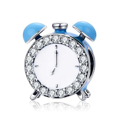 Forever Queen - Reloj Despertador para Mujeres, niñas, niños, Plata de Ley 925