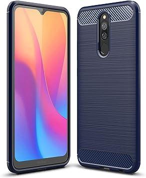 TenYll Funda para Xiaomi Redmi 8, TPU Slim Silicona Case Cover [Anti-arañazos] Funda para Smartphone Xiaomi Redmi 8 -Azul Oscuro: Amazon.es: Electrónica
