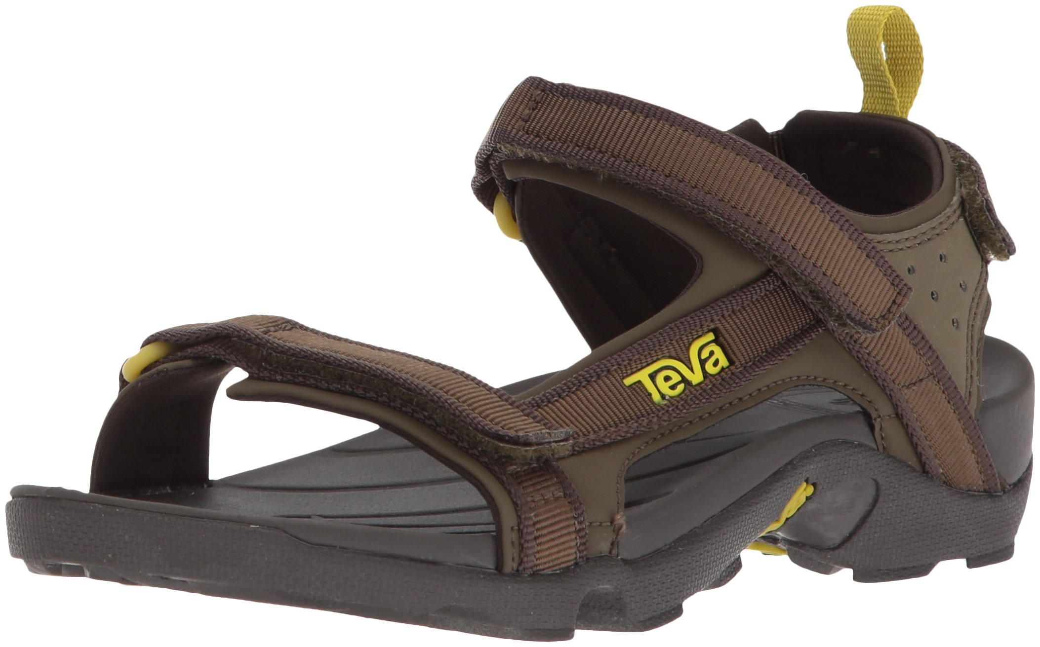 Teva Boys' Y Tanza Sport Sandal, Black Olive, 5 M US Big Kid