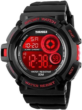 Amazon.com: fanmis S-shock Multi Función Digital LED relojes ...