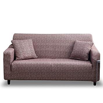 HOTNIU Funda de Sofá Elasticas Universal Fundas Decorativas para Sofas 2 Plazas, Antideslizante Protector/Cubierta de Muebles, Dos Plazas, Modelo_FSK