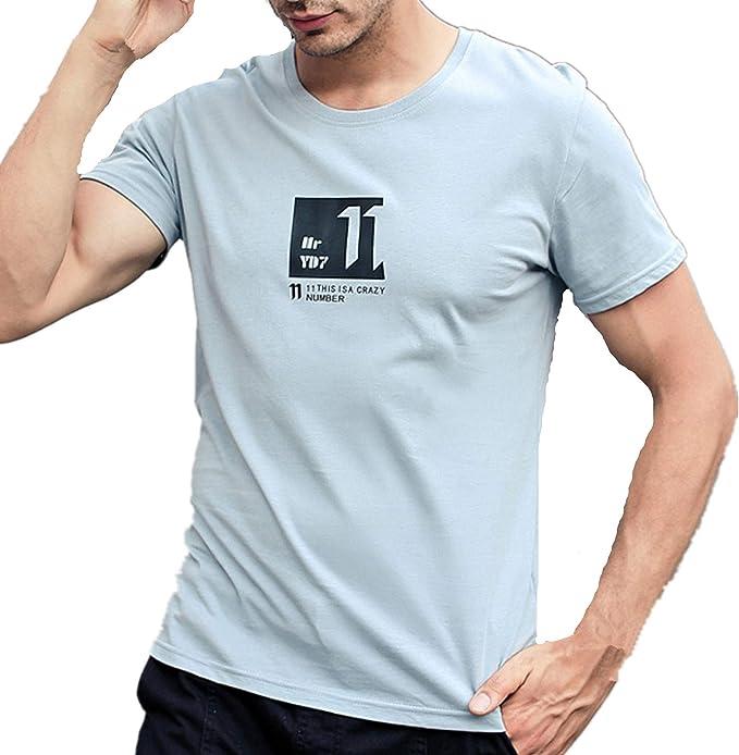 Camisetas Hombre Manga Corta La Camisa Basicas Algodon Blusa 2019 Verano Nuevo Tops Deportivas Gym Running Polo T-Shirt ZOELOVE Simple Manga Corta Estampado Casual: Amazon.es: Ropa y accesorios