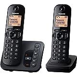 "Panasonic 松下 KX-TGC222GB 无线电话 带""AB KX-TG222"" 黑色"