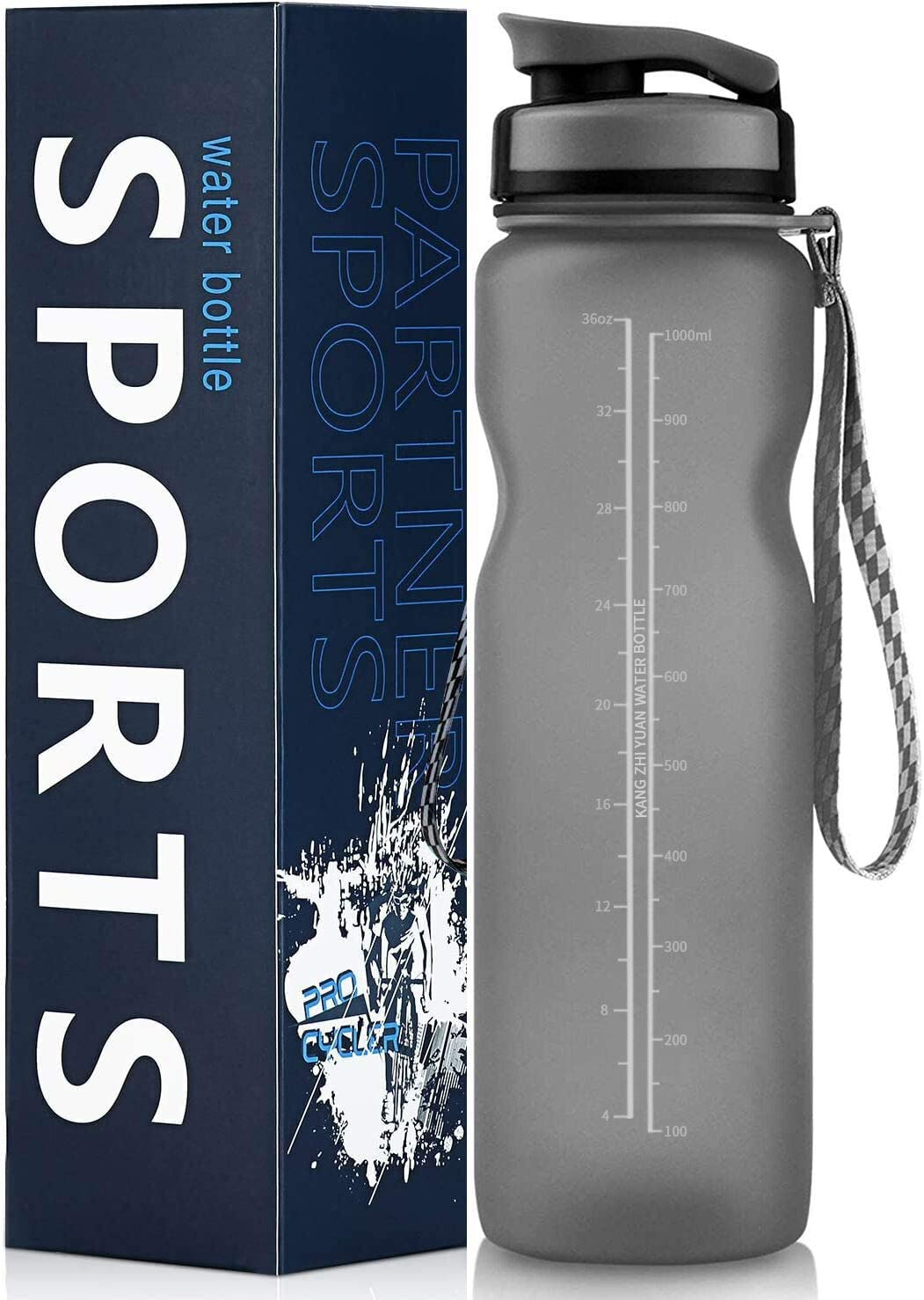 Sports School /& Office Adult Fitness Gym FRETREE Sports Water Bottle 1L BPA Free Tritan Non-Toxic Plastic Drinking Bottle Outdoor Leakproof Design for Teenager Cycling