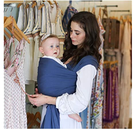 Bloom Infant and Toddler Sling Boba Bamboo Baby Wrap Carrier One Size Fits All up to 35 lbs 0-18 Months Premium Newborn