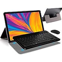 Tableta 2 en 1 de 10 pulgadas Android 10.0 Tablets, 4 GB RAM 64 GB ROM Tablet PC con teclado ratón, 13 MP Dual SIM 4G…