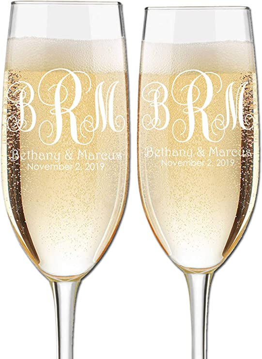 Personalised 8oz Single Champagne Flute Glass Sister Of The Groom Wedding Gift