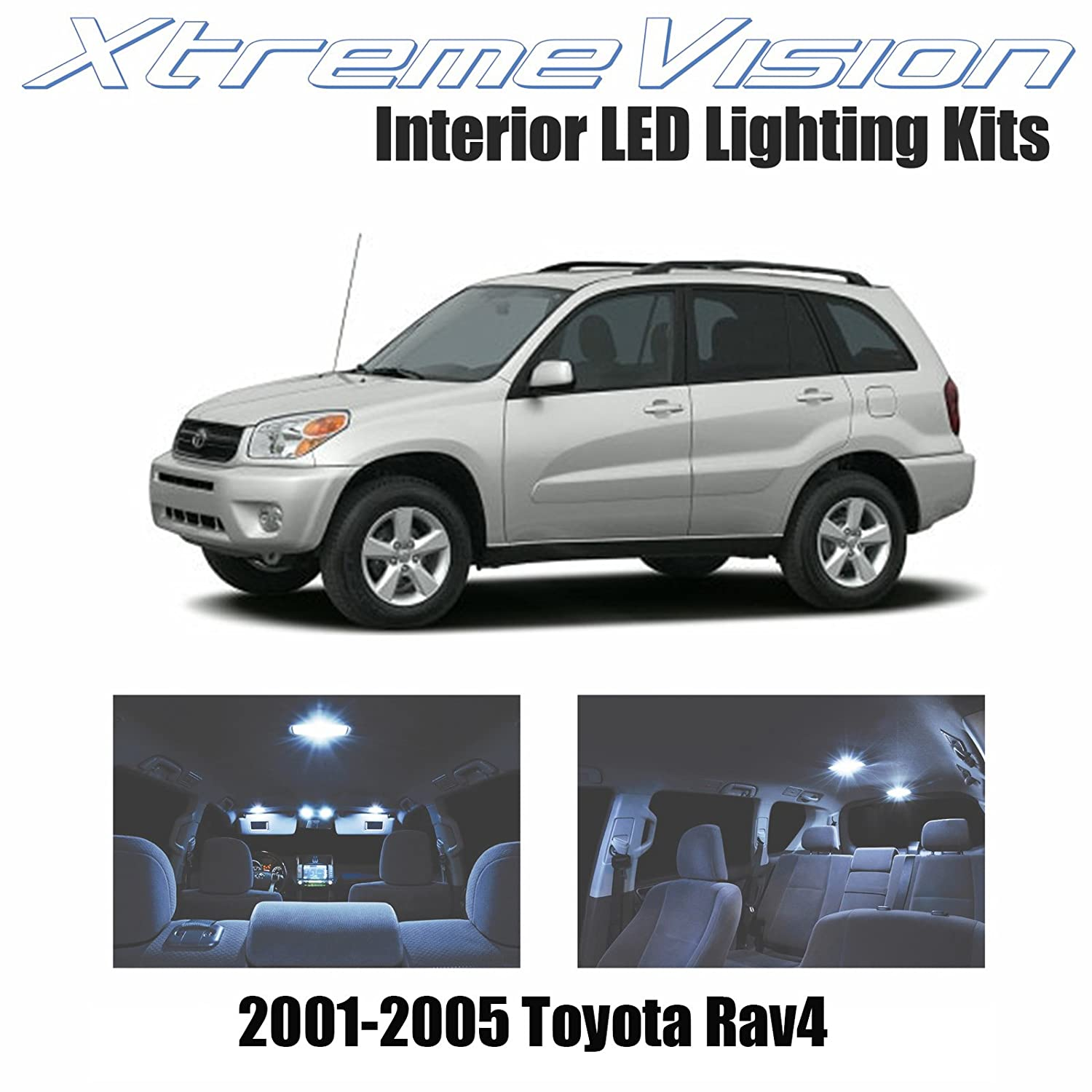 Xtremevision Toyota Rav4 2001 2005 4 Pieces Cool White Lights Premium Interior Led Kit Package Installation Tool Automotive