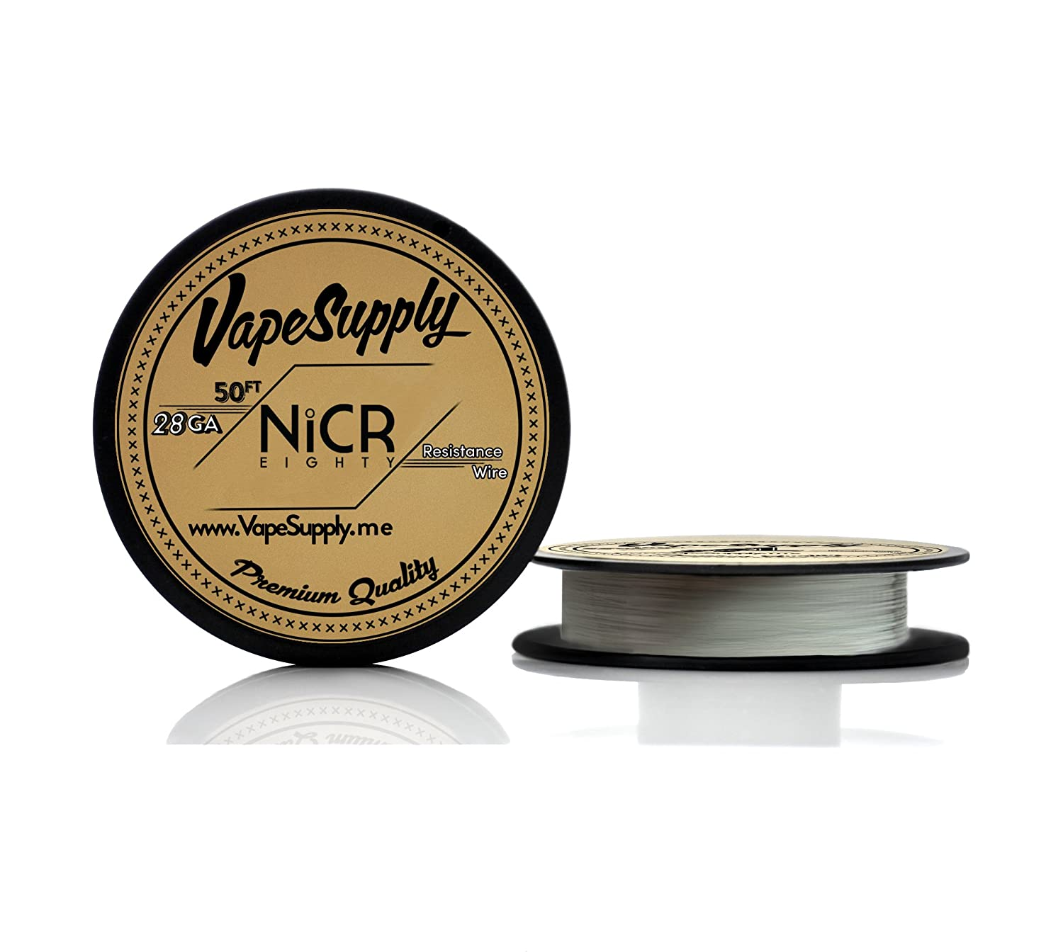 VapeSupply 28G-NCR-50FT VapeSupply 28AWG NiChrome Series 80 Resistance Wire - 50FT Spool