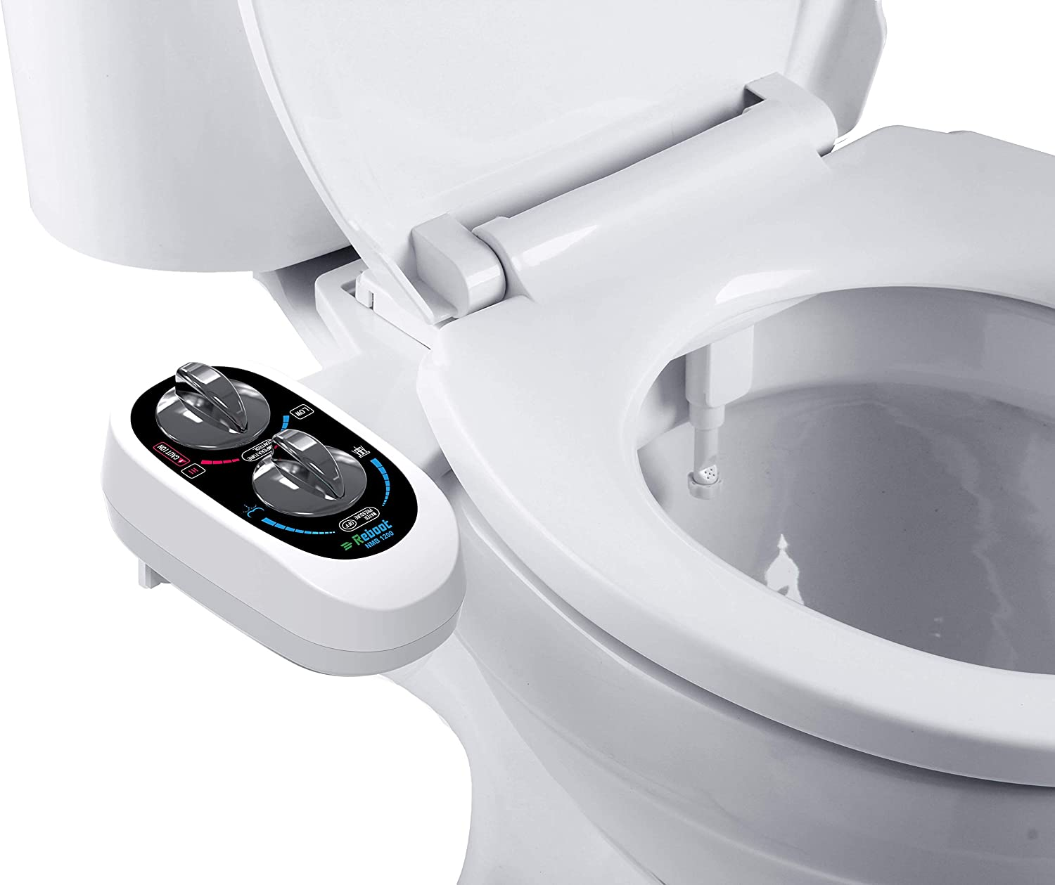 AMAZING FORCE Hot and Cold Bidet Attachment for Toilet Non-Electric Bidet Toilet Attachment with Self-cleaning Dual Nozzle Toilet Bidet with Brass Components Easy to Install