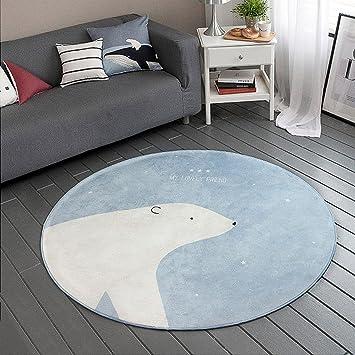 Runde Teppich gwell süß bär fußmatten runde teppich kinderzimmer weich plüsch anti