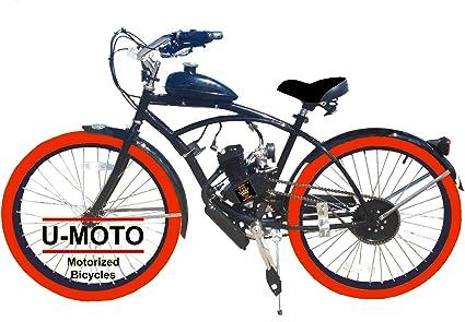 Kit completo de bicicleta motorizada de 2 tiempos 66CC/80CC con ...
