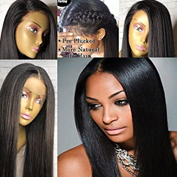 Human Hair Wigs for Black Women Normal Yaki