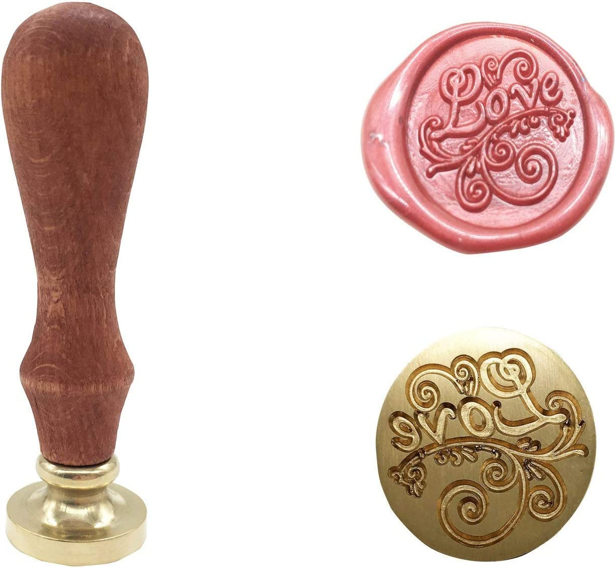 Gold-Arrow Love Vintage Retro Classical Wax Sealing Stamp Arts Crafts Romantic Symbol Wax Seal Stamp Metal Stamp Fancy Greetings for Wedding Invitation Letter