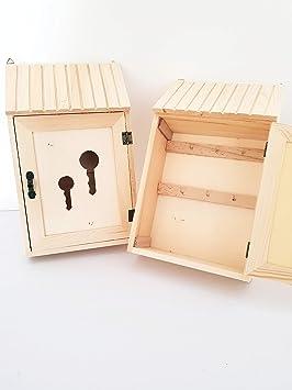 takestop® caja portallaves postal 1 Puerta de madera Pared Pared llavero con Key Box decoupage Design decoración Hogar: Amazon.es: Electrónica