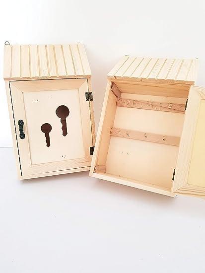 takestop® Caja portallaves Postal 1 Puerta de Madera Pared ...