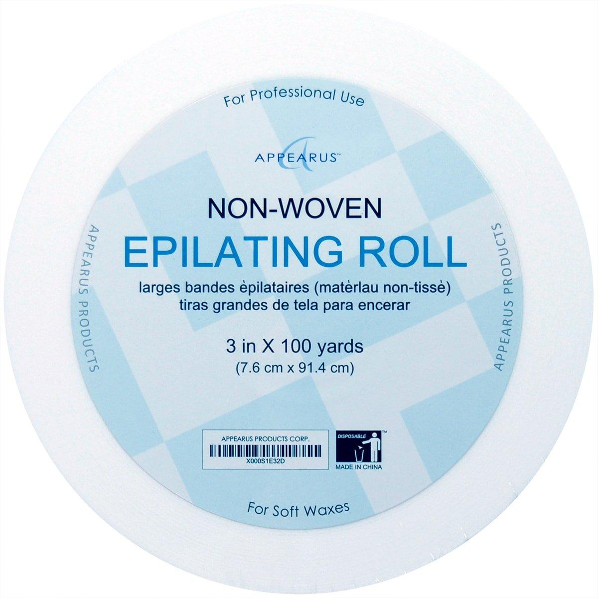 Appearus Non-woven Waxing Roll Strips 3'' x 100 Yard (20 Rolls)