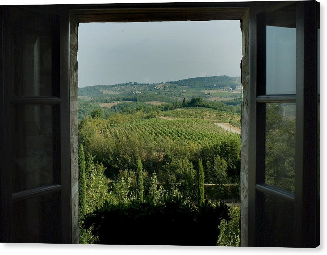 ''Open Window Looking Out On The Tuscan'' by National Geographic, Canvas Print Wall Art, 30'' x 20'', Mirrored Gallery Wrap, Glossy Finish