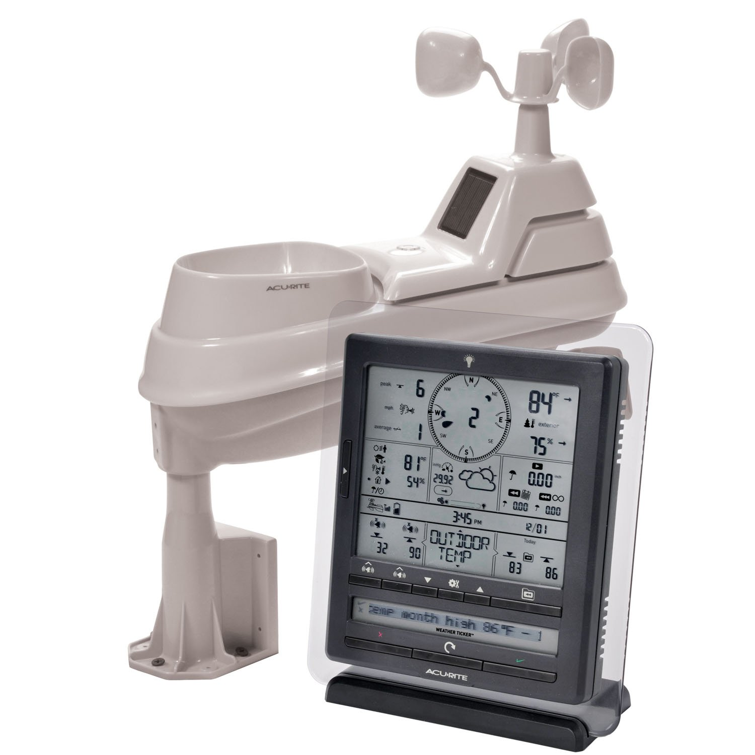 AcuRite 01035M Weather Station with PC Connect, 5-in-1 Weather Sensor and My AcuRite Remote Monitoring App